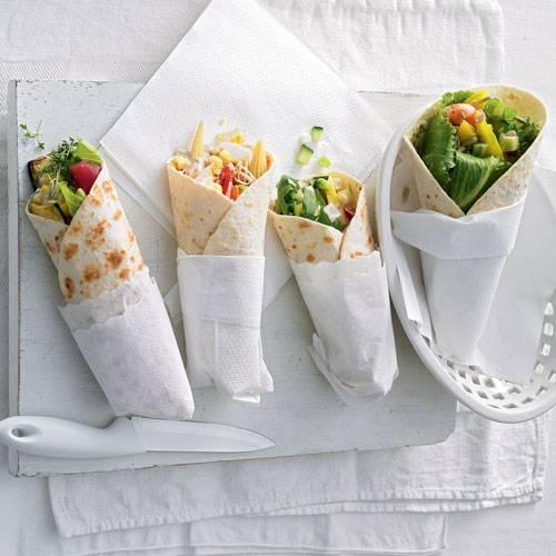 Zum Rezept: Schinken-Zucchini-Wrap
