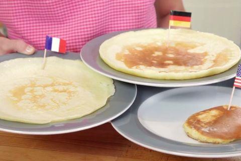 Petersilien-Pancakes mit Pastinakencreme