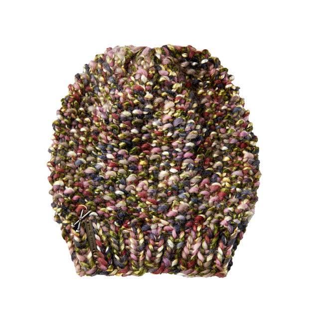 Strickmuster: Bunte Perlmuster-Mütze