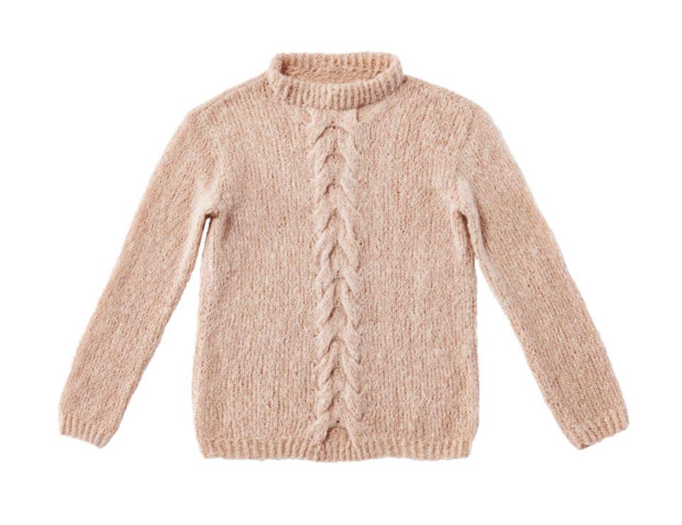 Pullover mit Zopfmuster mittig