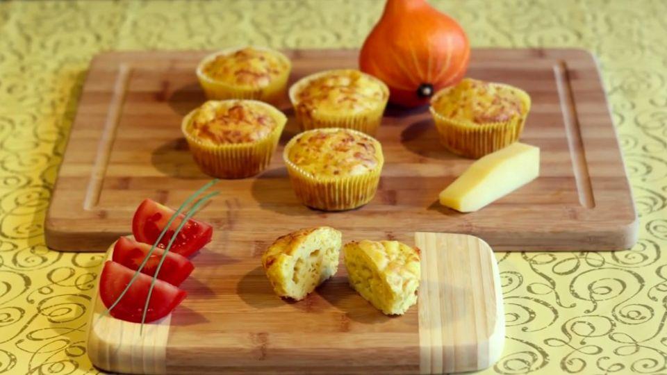 Käse-Kürbis-Muffins backen