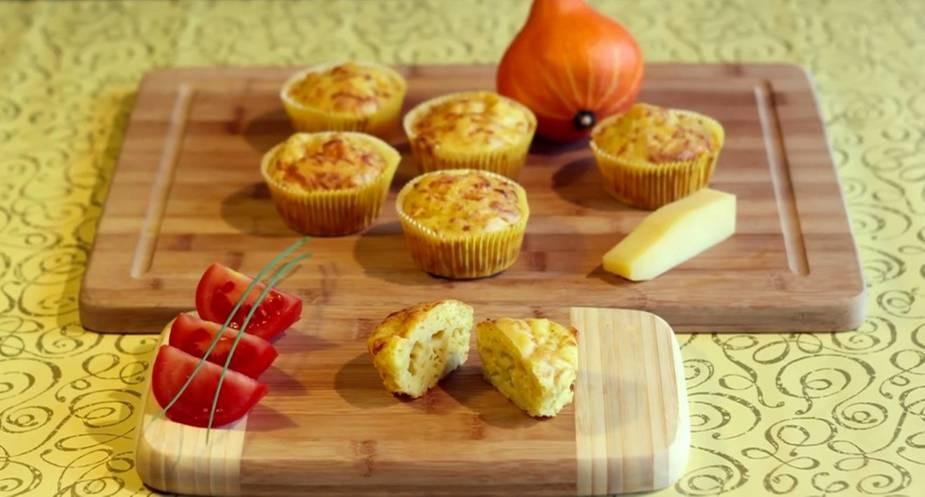Rezept: Käse-Kürbis-Muffins