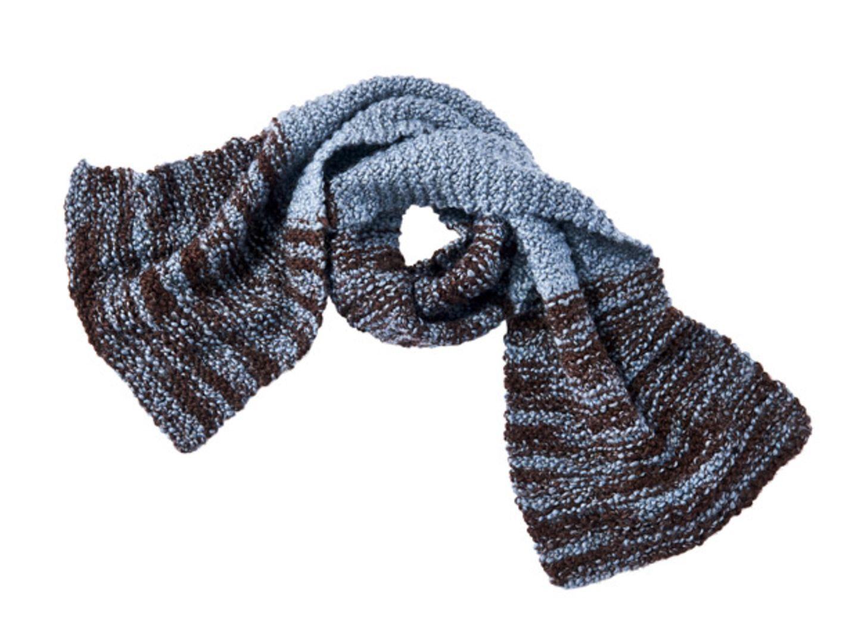 Melierten Schal stricken