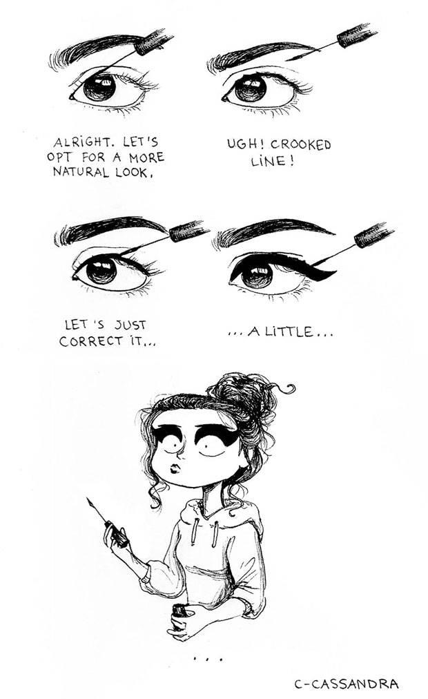 Selfies & Smokey Eyes: Diese Cartoons zeigen den Alltags-Wahnsinn, den jede Frau kennt