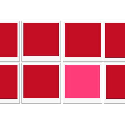 Kannst du erkennen, welche Farbe sich von den anderen unterscheidet?