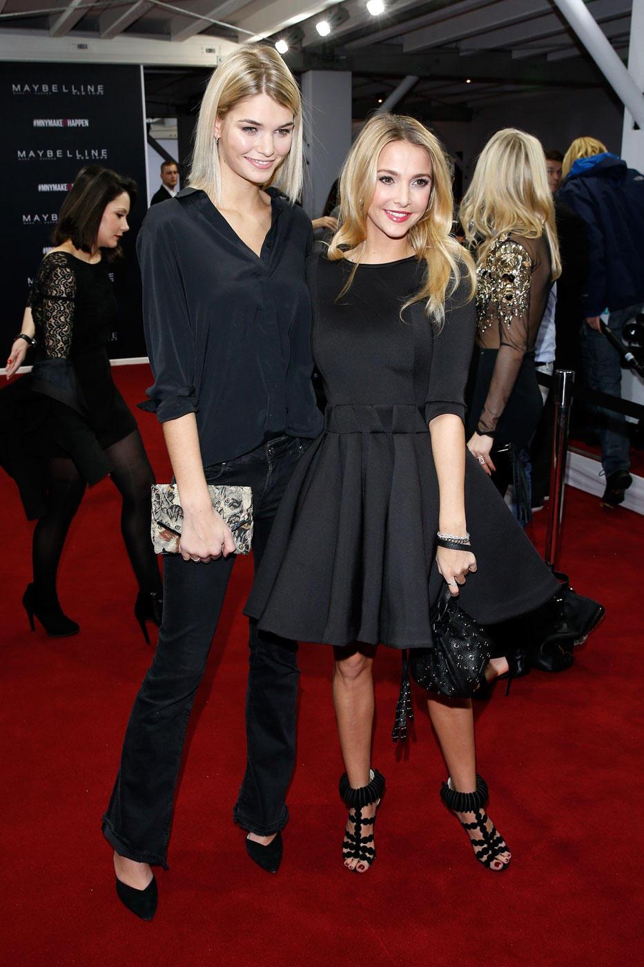 Germany's Next Topmodel Gewinnerin 2012 Luisa Hartema mit ihrer Freundin Sophie Hermann, It-Girl und TV-Star aus London und außerdem Uschi Glas' Stieftochter.