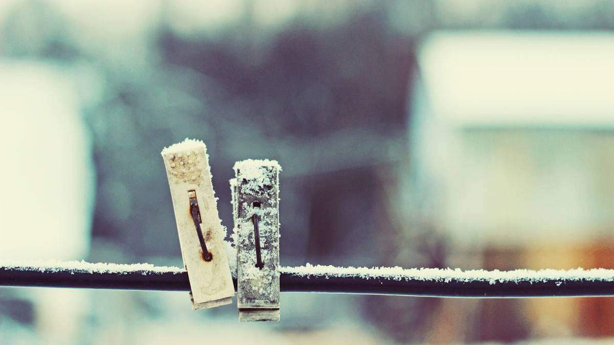 lifehack w sche trocknen bei frost geht das. Black Bedroom Furniture Sets. Home Design Ideas