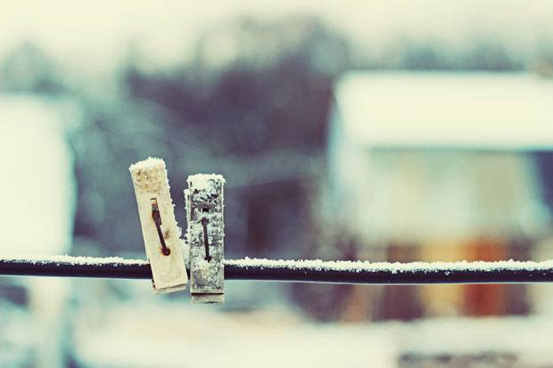 Lifehack: Wäsche trocknen bei Frost - geht das? | BRIGITTE.de