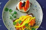 Lachs- und Papaya-Frühstück