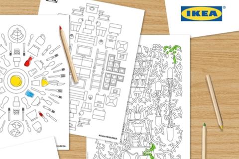 Ikea veröffentlicht ein kostenloses Erwachsenen-Malbuch