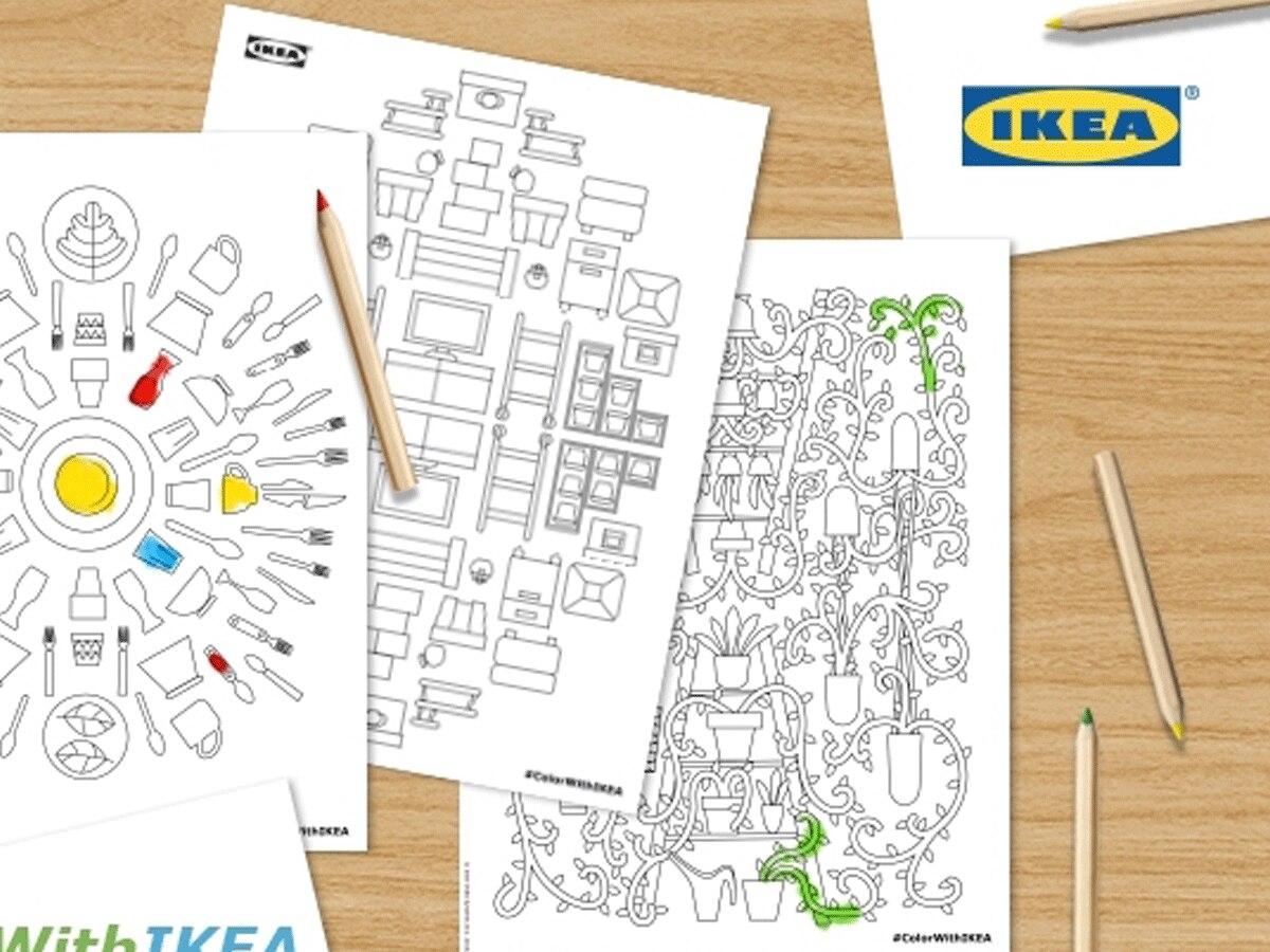 Ausmalbuch: Ikea veröffentlicht ein kostenloses Erwachsenen-Malbuch ...