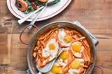 Süßkartoffel-Pfanne mit Ei