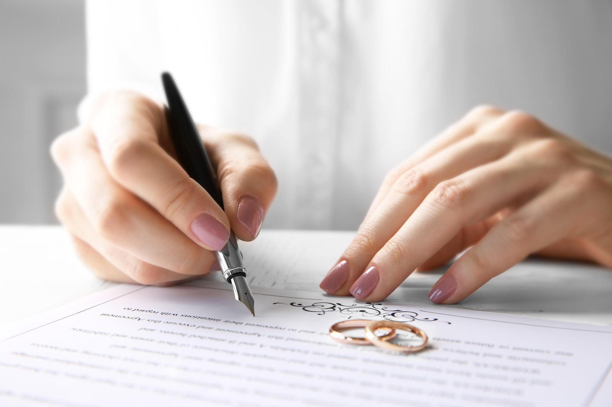 Ehevertrag - Schutz bei der Scheidung