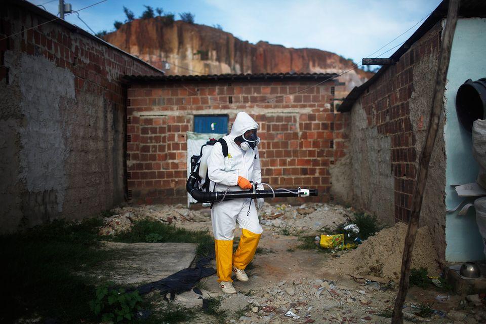 Kampf gegen die Mücke: Mit Insektengift versuchen Brasiliens Behörden, die Bevölkerung zu schützen.