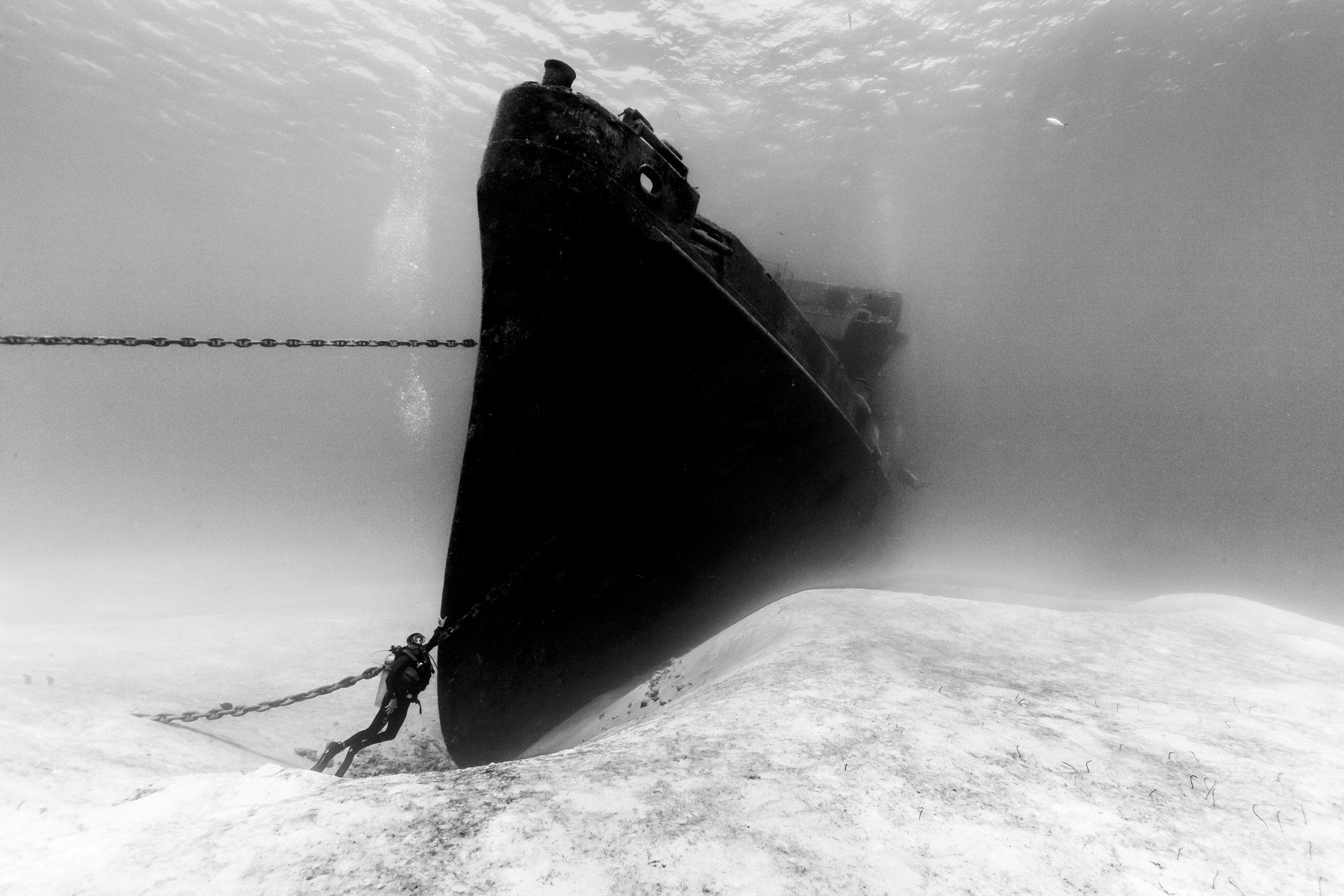 """USS Kittiwake and Diver"""