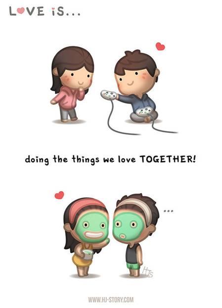 Liebe ist ... die Dinge, die wir lieben, zusammen zu tun.