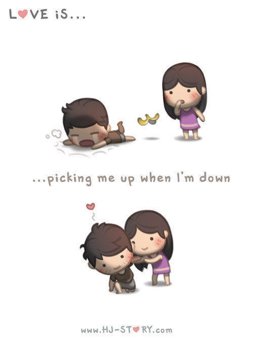 Liebe ist ... mich aufzurichten, wenn ich gefallen bin.
