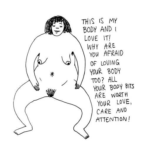 """Körpergefühl: """"Das ist mein Körper und ich liebe ihn! Warum hast du Angst davor deinen Körper ebenfalls zu lieben? Alle Teile deines Körpers verdienen Liebe, Sorgfalt und Achtung!"""" ... denn sie sind schließlich diejenigen, die dich täglich zuverlässig durch das Leben tragen."""