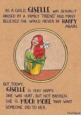 """Als Kind wurde Giselle von einem """"Freund der Familie"""" missbraucht."""