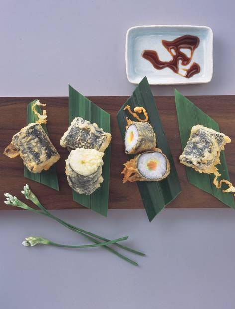 Gebackene Sushi