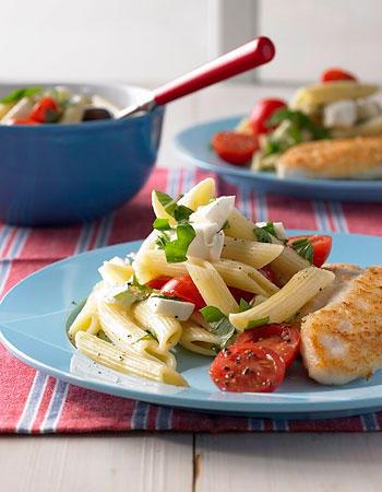 Schnelle Küche: Lauwarmer Nudelsalat