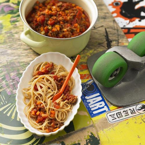Vollkorn-Spaghetti Bolognese