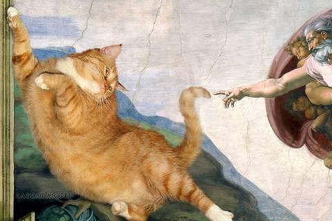 Was macht große Kunst zum Meisterwerk? Eine dicke Katze!