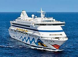 Der Kussmund ist das Markenzeichen der AIDA-Clubschiffe