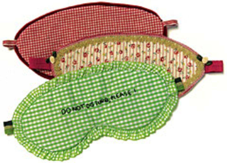 Maximaler Lichtschutzfaktor: Schlafbrillen selber nähen