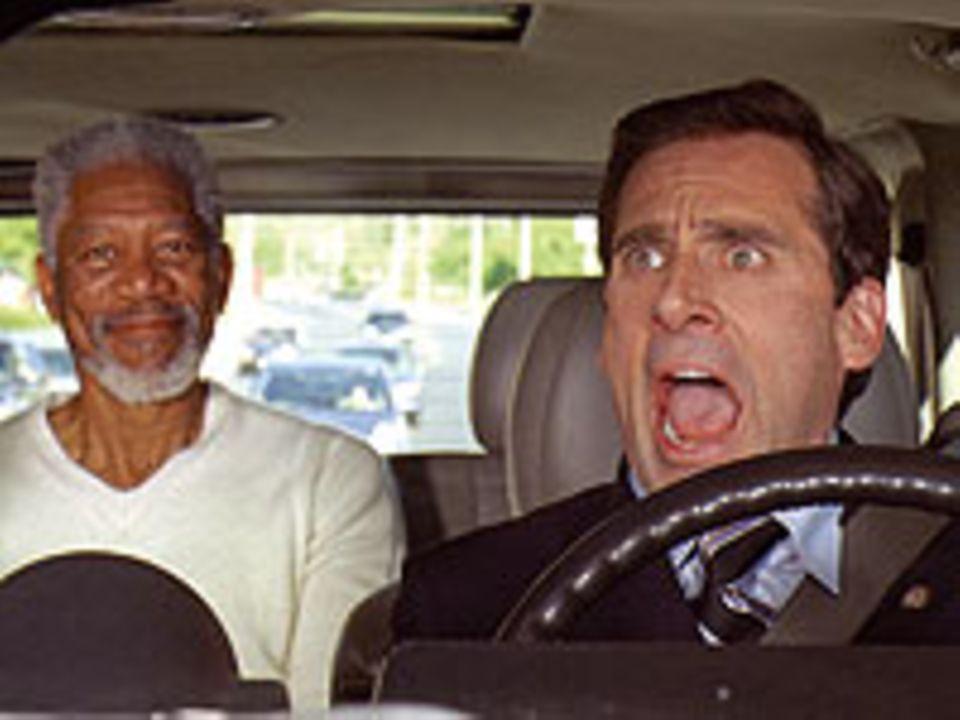 Evan Baxter (Steve Carell) und Gott (Morgan Freeman)