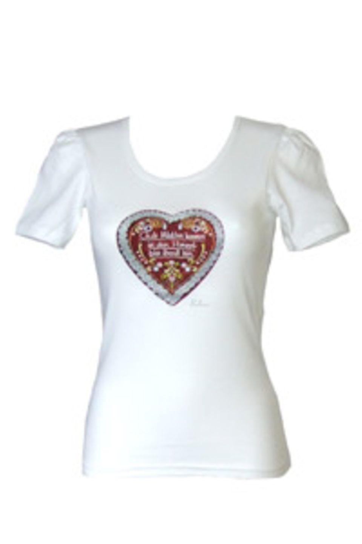 """""""Gute Mädchen kommen in den Himmel, böse überall hin"""" steht auf dem taillierten T-Shirt von Balbina. Über www.balbina-balbina.de. Um 40 Euro."""