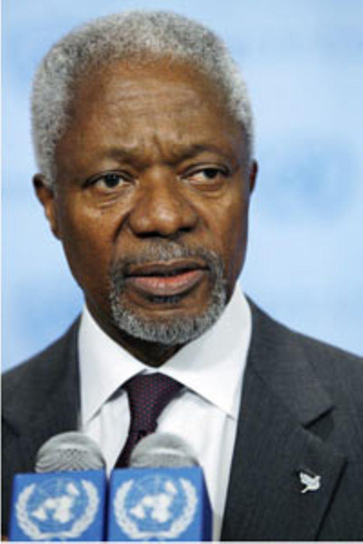 Der EX-UN-Generalsekretär Kofi Annan vermittelt in dem Konflikt.
