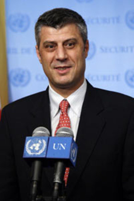 Der Premierminister des Kosovos: Hashim Thaçi