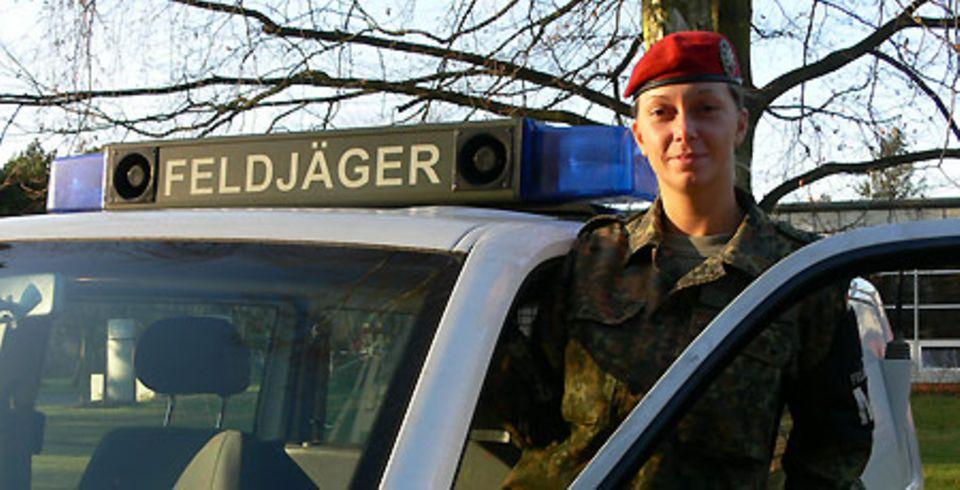 Als Soldatin im Einsatz