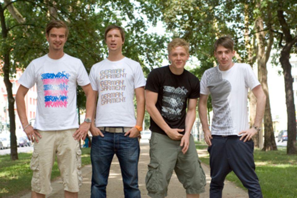 Joko Winterscheidt, Sebastian Radlmeier, Matthias Schweighöfer und Kilian Kerner