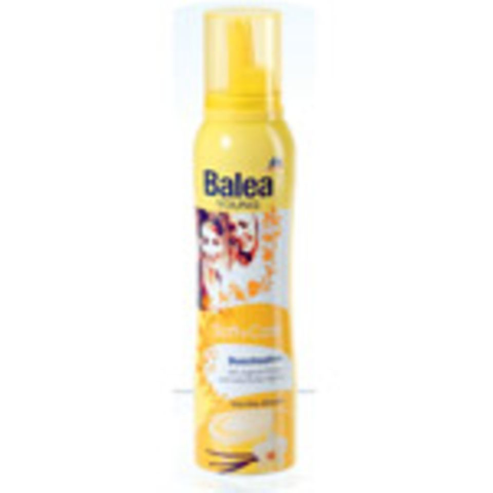 Duschsahne mit Vanille-Duft von Balea, um 2 Euro.