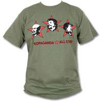 Geballte politische Botschaft: Che Guevara, Lenin und Mao auf einem Shirt vereint. Zu haben für ca. 16 Euro bei www.shirt66.de