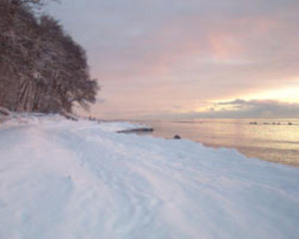 Einfach traumhaft: die Winterküste bei Sassnitz