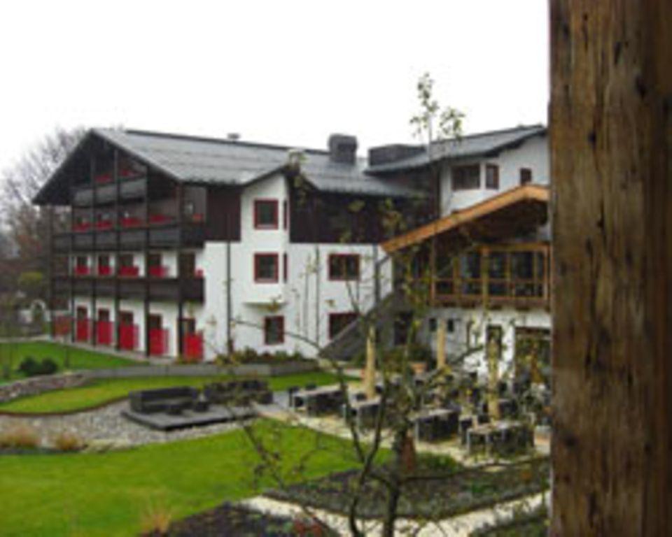 Der Garten vom Hotel Kitzhof in Kitzbühel