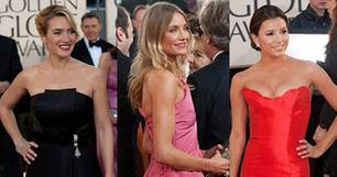 Geballter Glamour: Kate Winslet, Cameron Diaz und Eva Longoria bei der Verleihung der 66. Golden Globes
