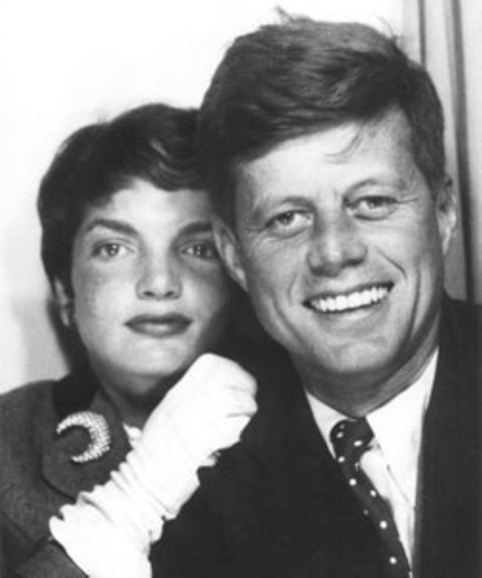 Fotoautomatenbild von Jack und Jackie Kennedy Boston, 1954