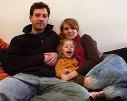 We are family: Toni, Lea und Lucia.