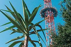 "50 Meter freier Fall vom Power-Tower ""Monte-Zuma"""