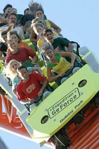"""Die Riesenachterbahn """"Expedition GeForce"""" ist eins der Highlichts des Holiday Parks"""