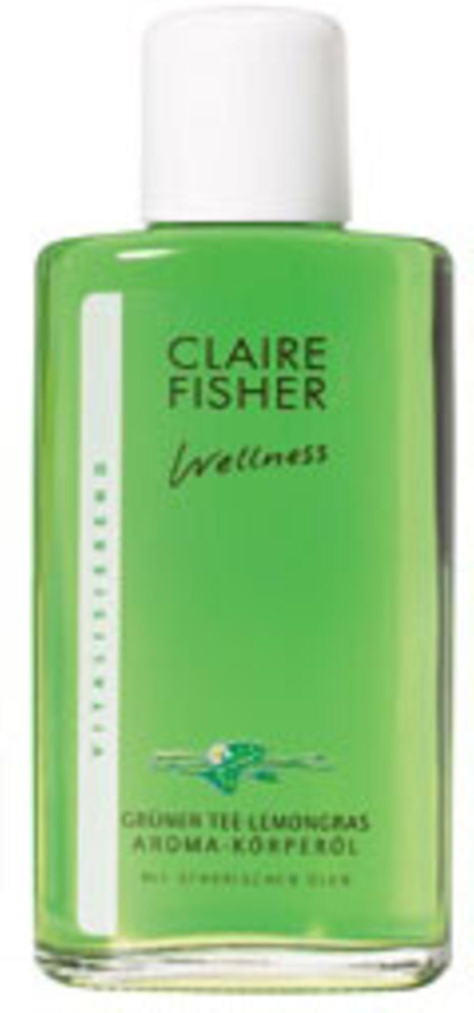 Grüner Tee-Lemongras Aroma-Körperöl von Claire Fisher