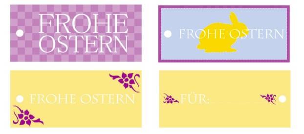 Grüße verschicken: Ostern: Anhänger zum Ausdrucken