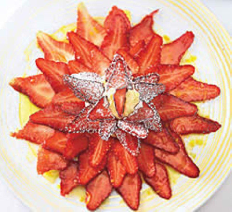Erdbeercarpaccio: Lea Linsters Liebling