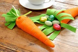 Dekoideen: Ostern: Tischdeko aus Filz basteln