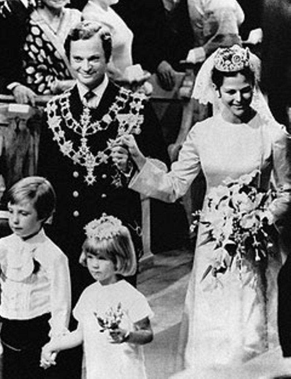 Silvia Sommerlath und Carl Gustav von Schweden am 19. Juni 1976