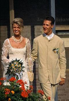 Corinna und Michael Schumacher am 1. August 1995